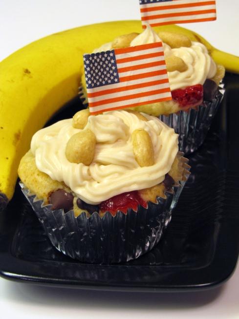 The Banana Republic- Banana Split Cupcakes