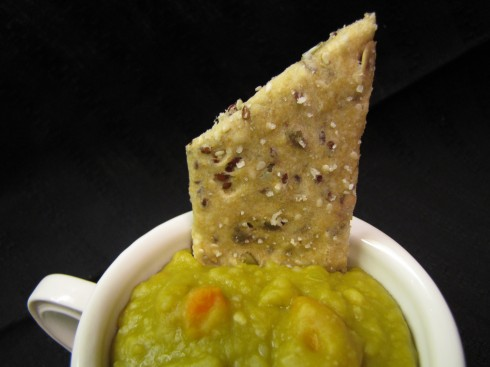 Split Pea Soup with Hippy Dippy Crackers